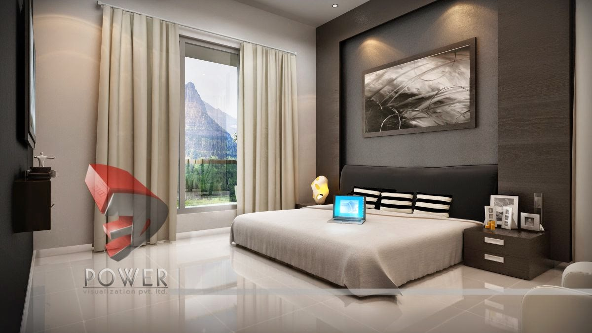3d animation 3d rendering 3d walkthrough 3d interior cut section photomontage india 3d - Bedrooms interior design ...