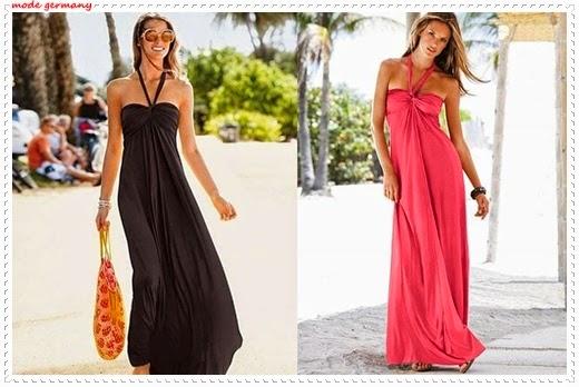Maxikleider Mode für den Sommer