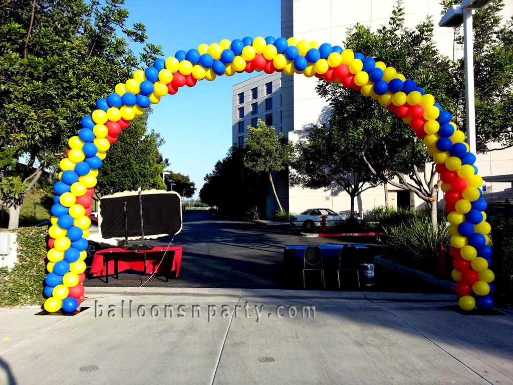 The very best balloon blog matt celini mckinney tell us for Balloon arch tape