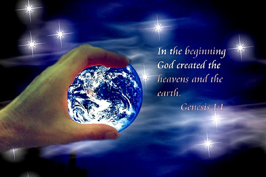 an analysis of gods creation of the heavens and the earth The creation - and god stepped out on space,  god rolled the light around in  his hands until he made the sun and he set that sun a-blazing in the heavens.