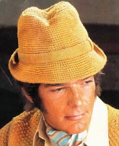 crocheted hat for a man