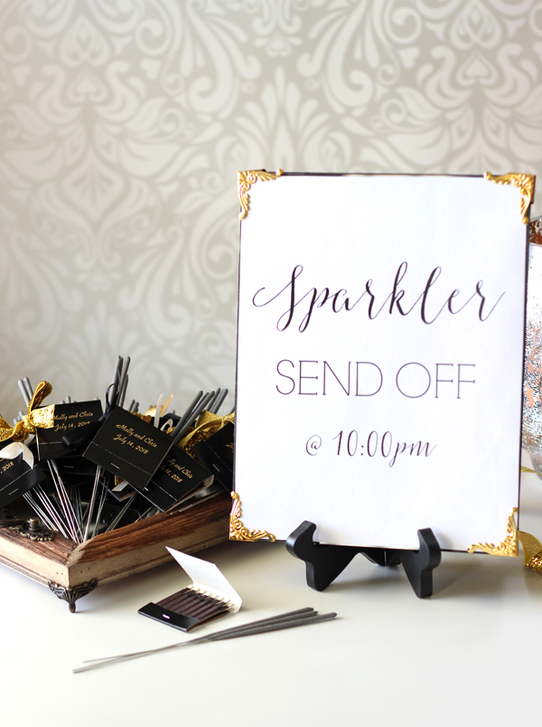 DIY Sparkler Send Off