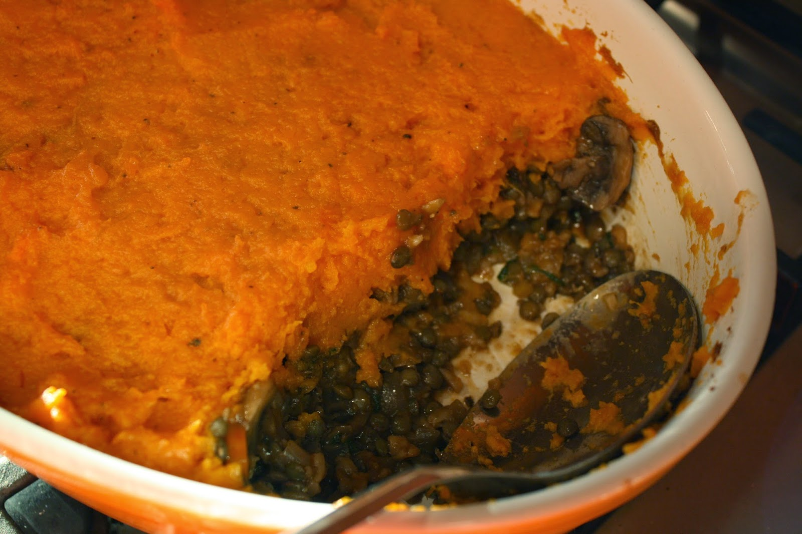 ... -Free Girl: Shepherd's Pie with Lentils, Mushrooms and Sweet Potato