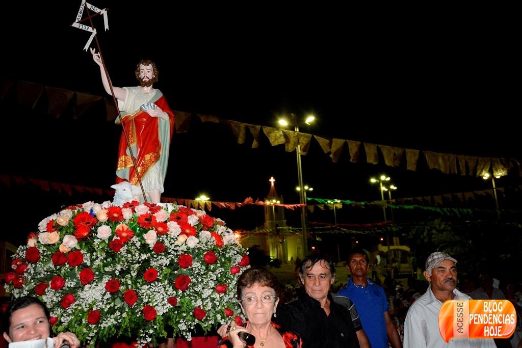Procissão encerra Festejo de São João Batista no Município de Pendencias RN.