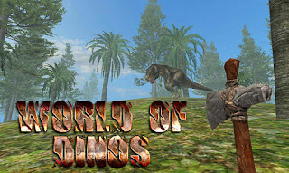 Screenshots of the World of dinos for Android tablet, phone.