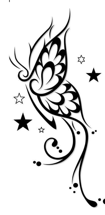 Tatuajes Para Mujeres Tatuaje Sensual Mariposas Tribal Anny