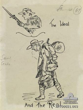 One of Hewkley's drawings for the ANZAC Book