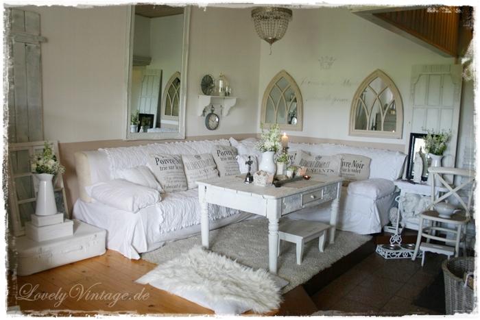 Wohnzimmer Und Kamin Vintage Grn Style Dumss