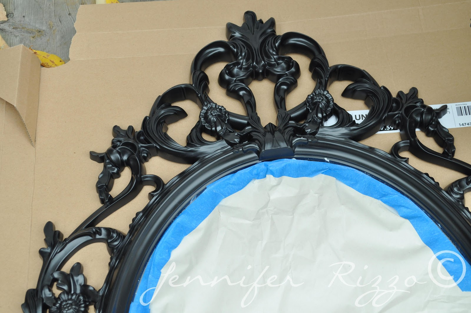 Make a vintage-inspired halloween mirror.... - Jennifer Rizzo