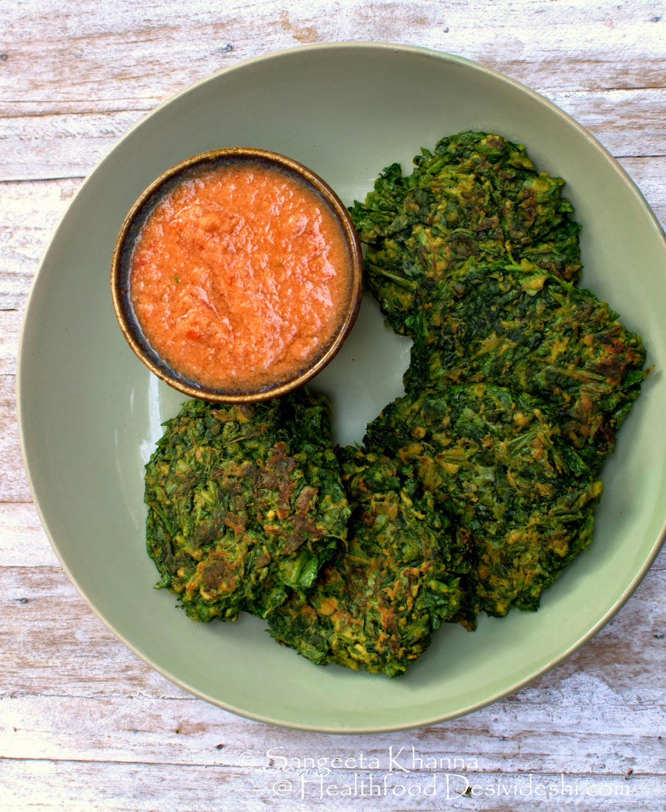 101 gluten free breakfasts : lentil fritters with home grown greens #calorieefficientmeals