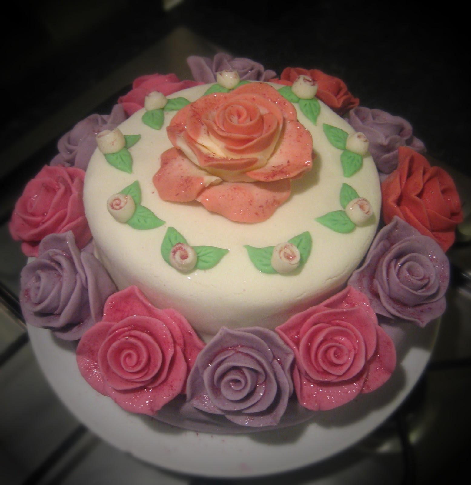 Feed Me Two Tier Birthday Cake
