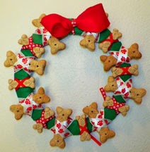 Dog Biscuit Treat Wreath Handmade by Tile Art Studio