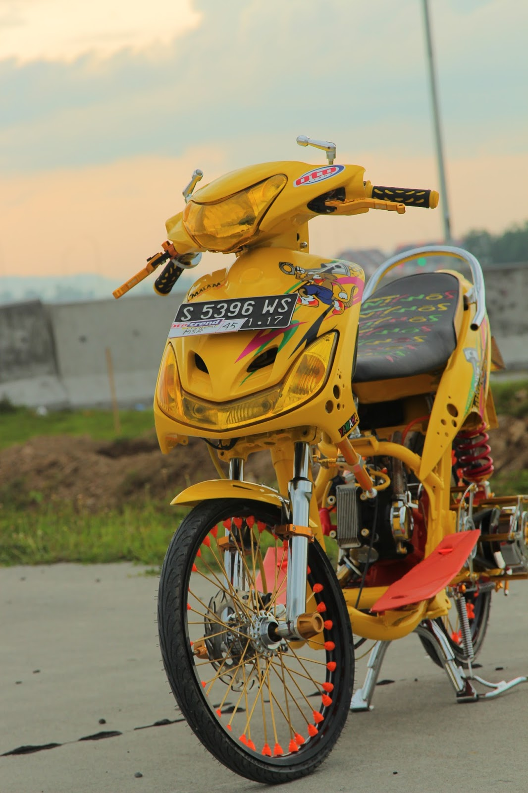 modifikasi mio street racing terkeren
