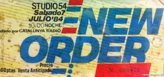 entrada de concierto de new order