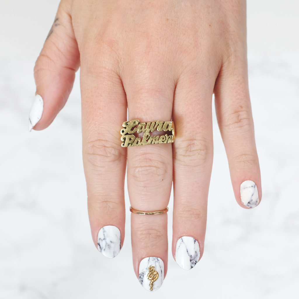 NCLA Nails Ashford White Marble Manicure - Mini Penny Blog