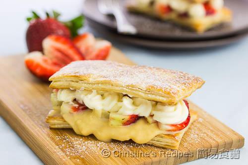 士多啤梨蛋黃醬酥皮夾餅 Strawberry Custard Pastry02