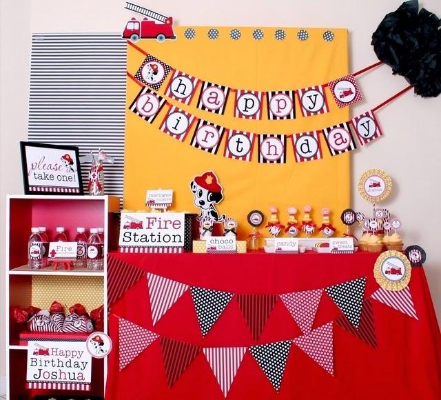 Ideas de Fiestas de Cumpleaños de Bomberos