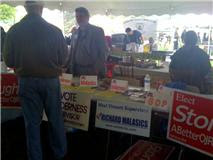 Our GOP booth at community day
