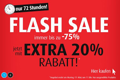 Flash-Sale bei MandMDirect.de: 75 Prozent plus 20 Prozent