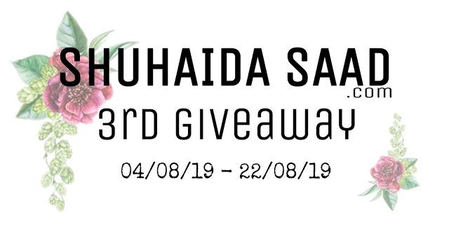 Shuhaidasaad.com 3rd Giveaway