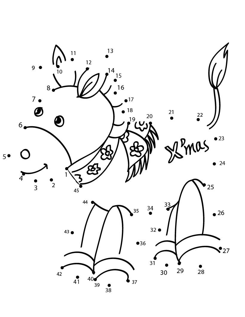De Desenhos Animados Para Pintar De Ligar Pontos Animais Da Fazenda E