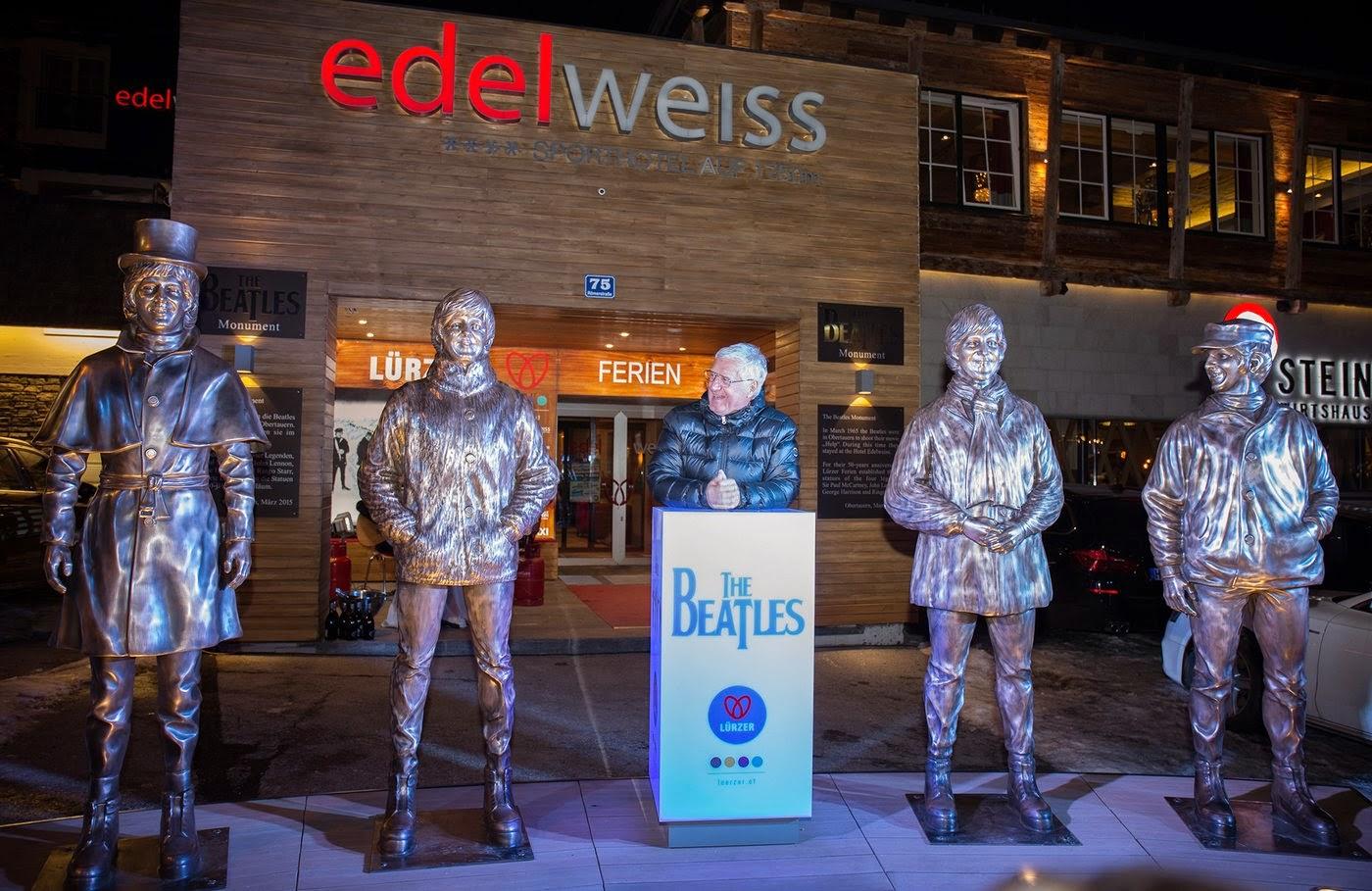 The Beatles Polska: W Austrii odsłonięto pomnik i instalacje The Beatles