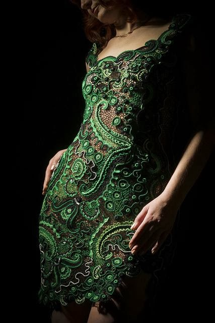 Amazing green lace dress - women inspiration