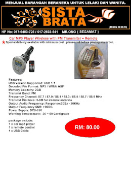 MP3 carplayer with 2GB memory RM 80