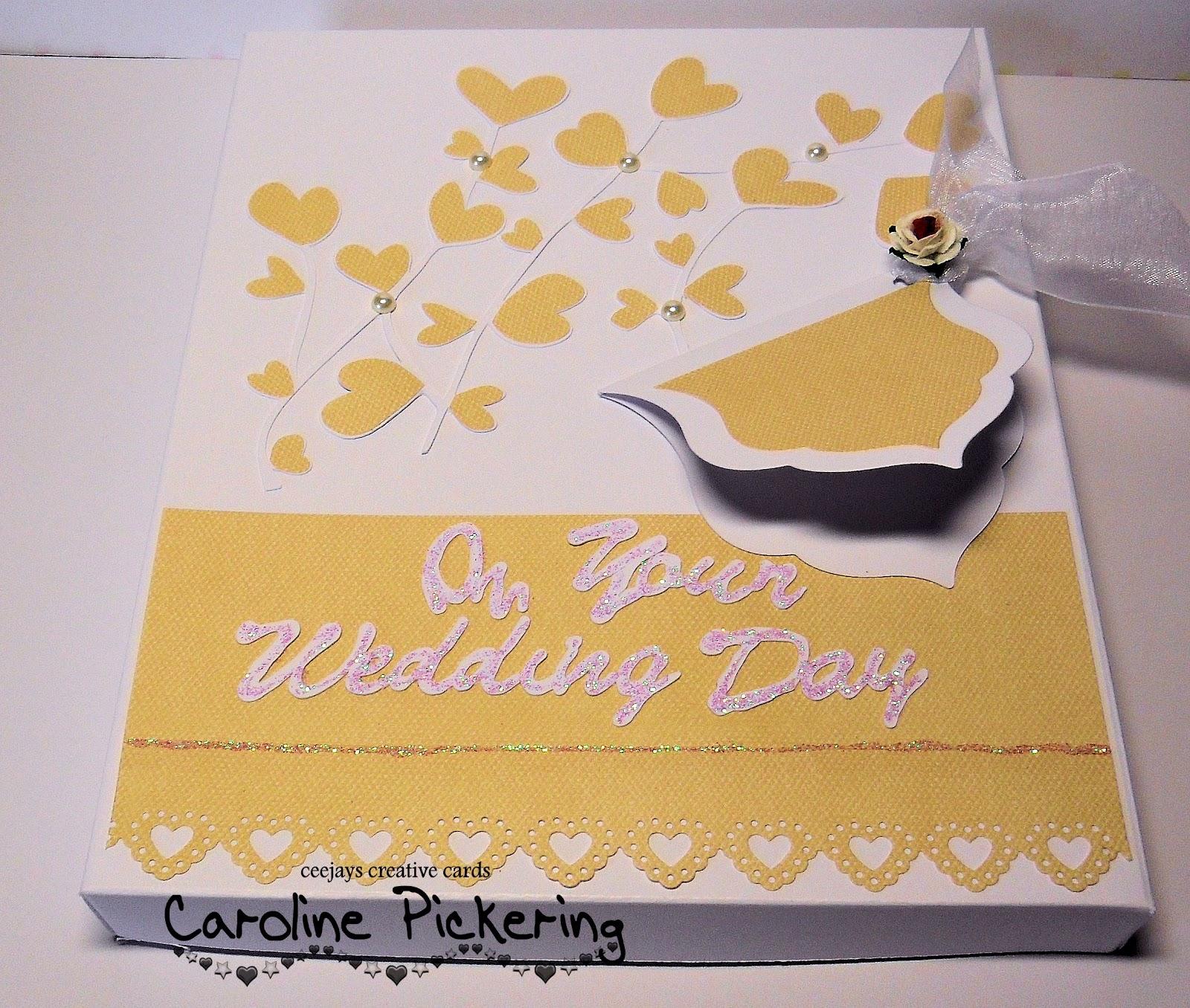 CJs Creative Cards Wedding Cake Shaped Card