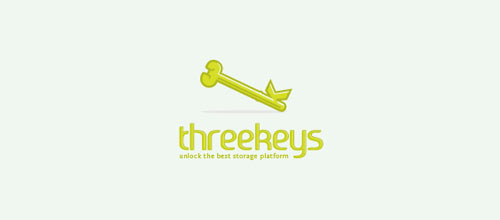 Three Keys logo design creative