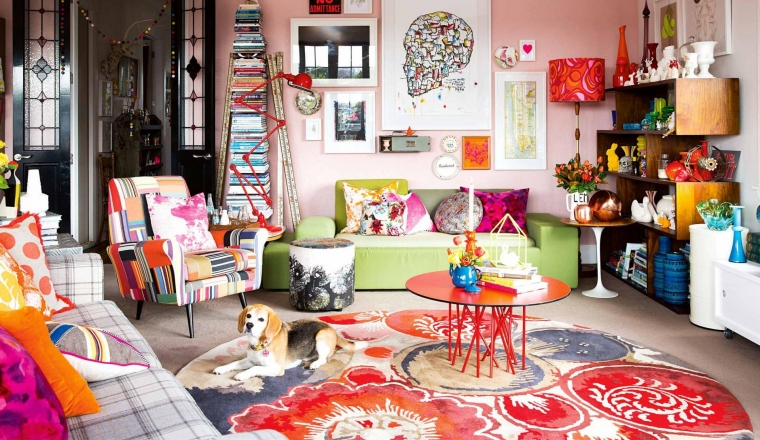 Houses and styling I love: Kleurrijke interieurs.