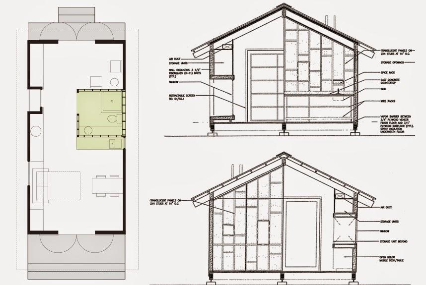 Arquitectura de casas extra small house casa peque a en for Planos de casas norteamericanas