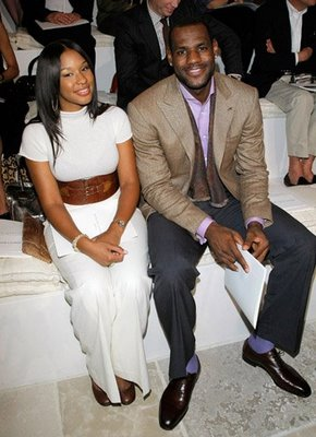 Who is lebron james dating 2012