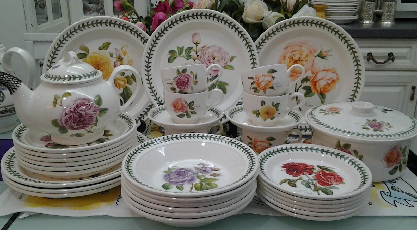 Lovely treasures from english garden portmeirion botanic for Portmeirion dinnerware set of 4 botanic garden canape plates