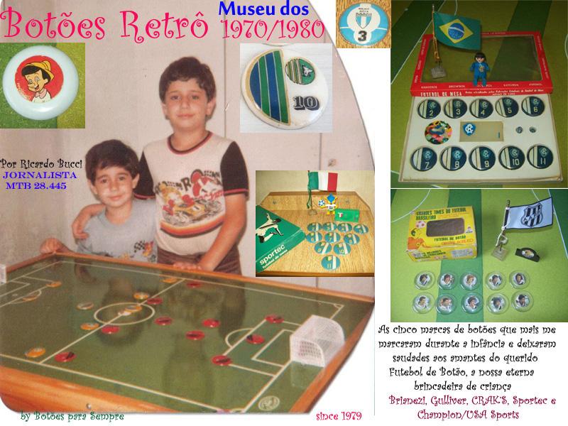 Botões Retrô 1970/1980