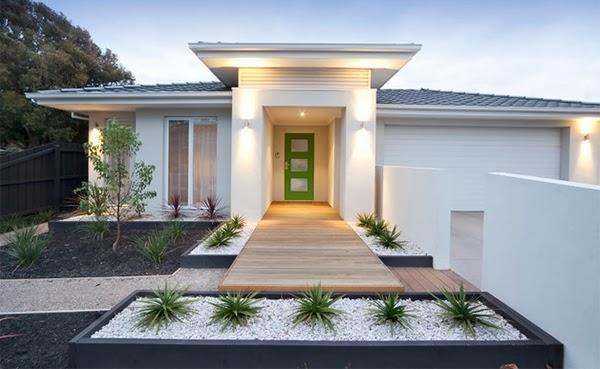 Small modern house garden design