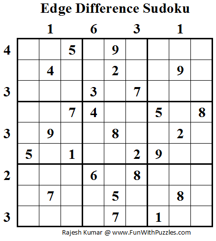 Edge Difference Sudoku (Daily Sudoku League #58)