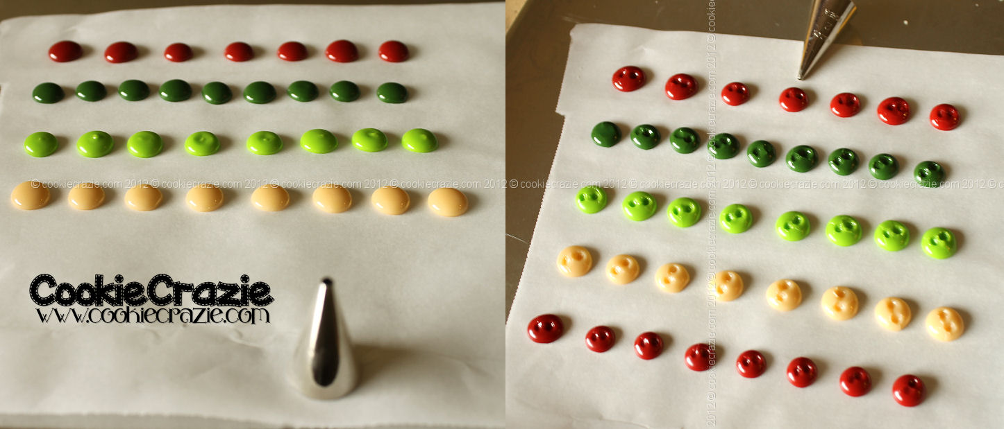 Decorating christmas tree cookies button christmas tree cookies