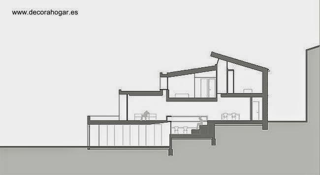 planos de casas pequenas a desnivel