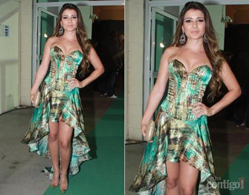 Vestido estampado Paula Fernandes
