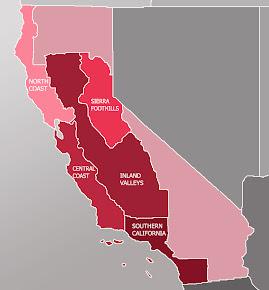 Californiens Vinregioner