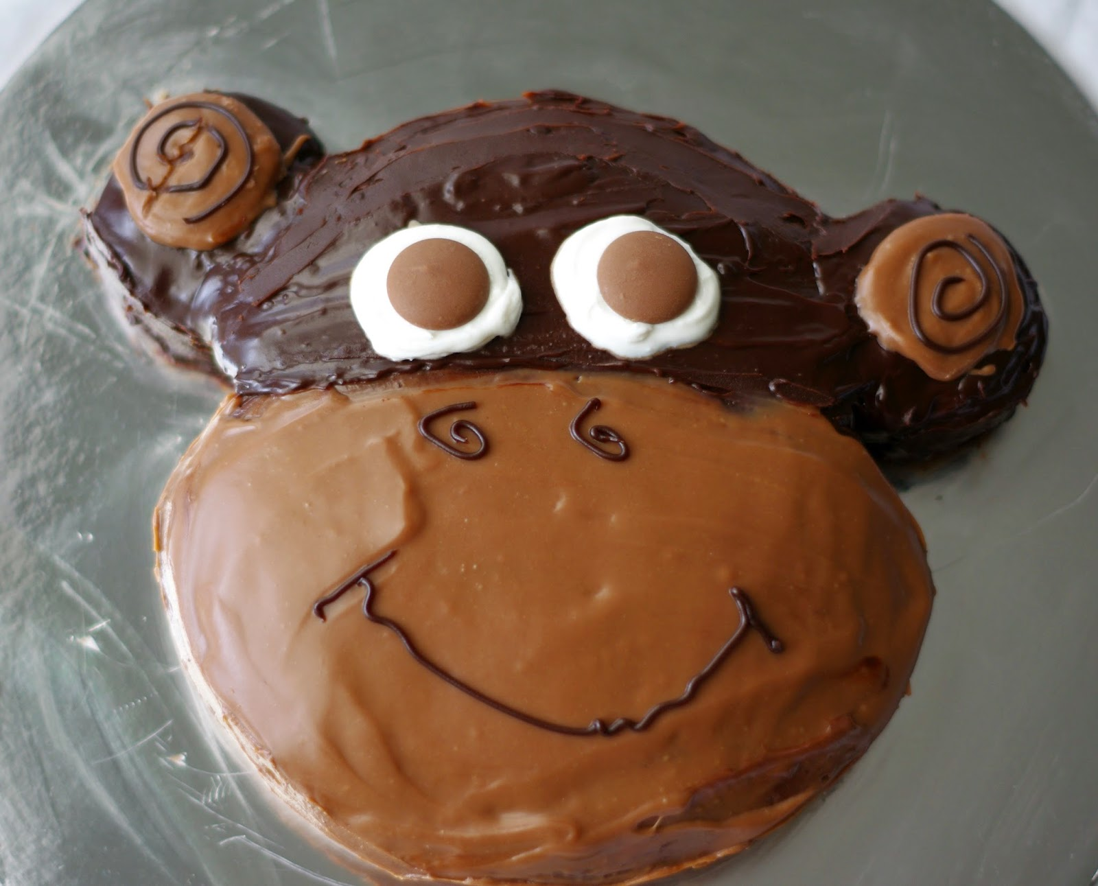 Little Monkey Birthday Cake