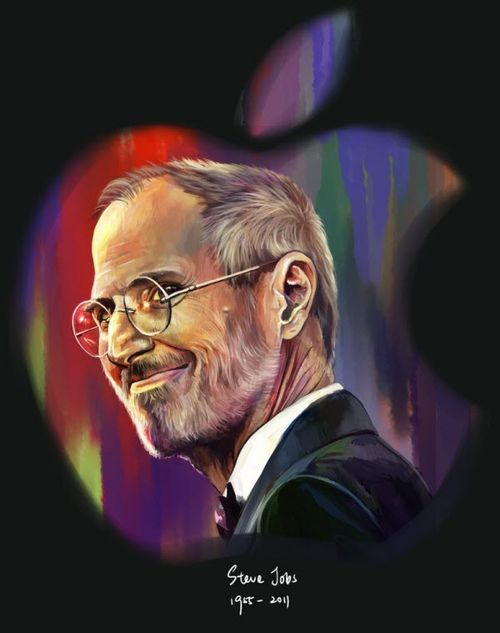 40 Lukisan Steve Jobs yang Mengagumkan: Colored the World