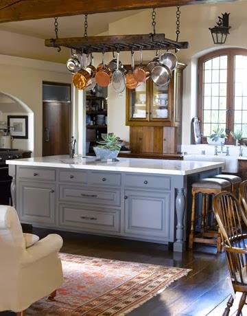 Farrow and Ball Lamp Room Gray kitchen