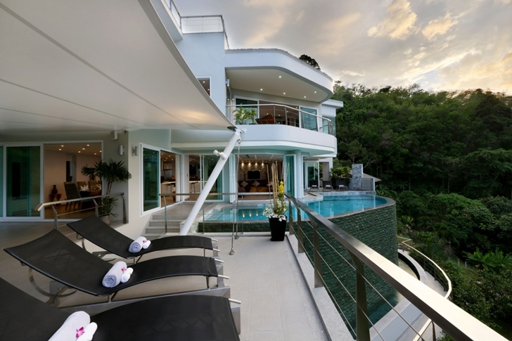 Terraces of Modern Villa Beyond in Phuket