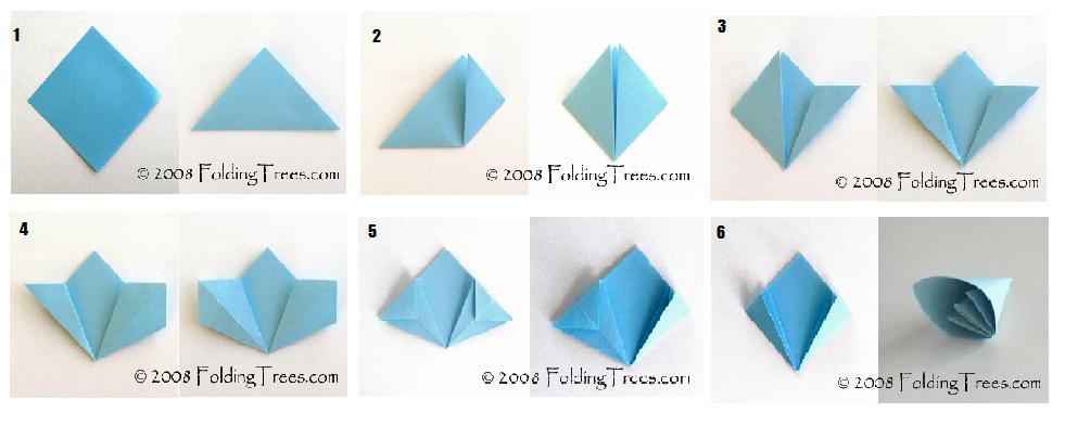 Origami flor de papel - Imagui