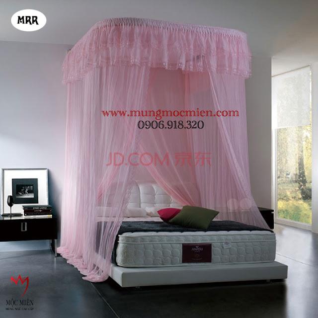 Màn khung cao cấp hệ thống ròng rọc, màu hồng