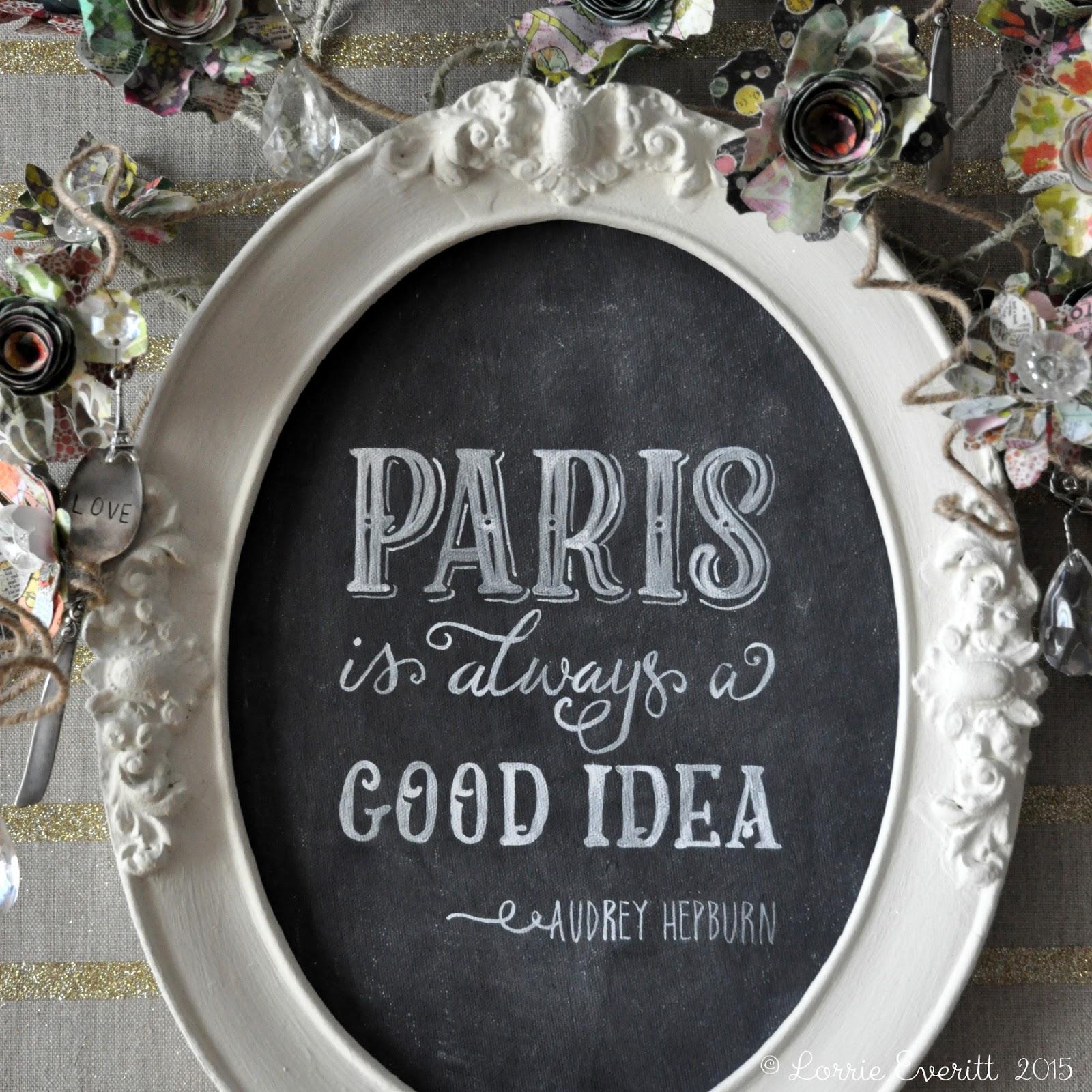Michaels' Springtime in Paris contest | Lorrie Everitt Studio #SpringtimeInParis