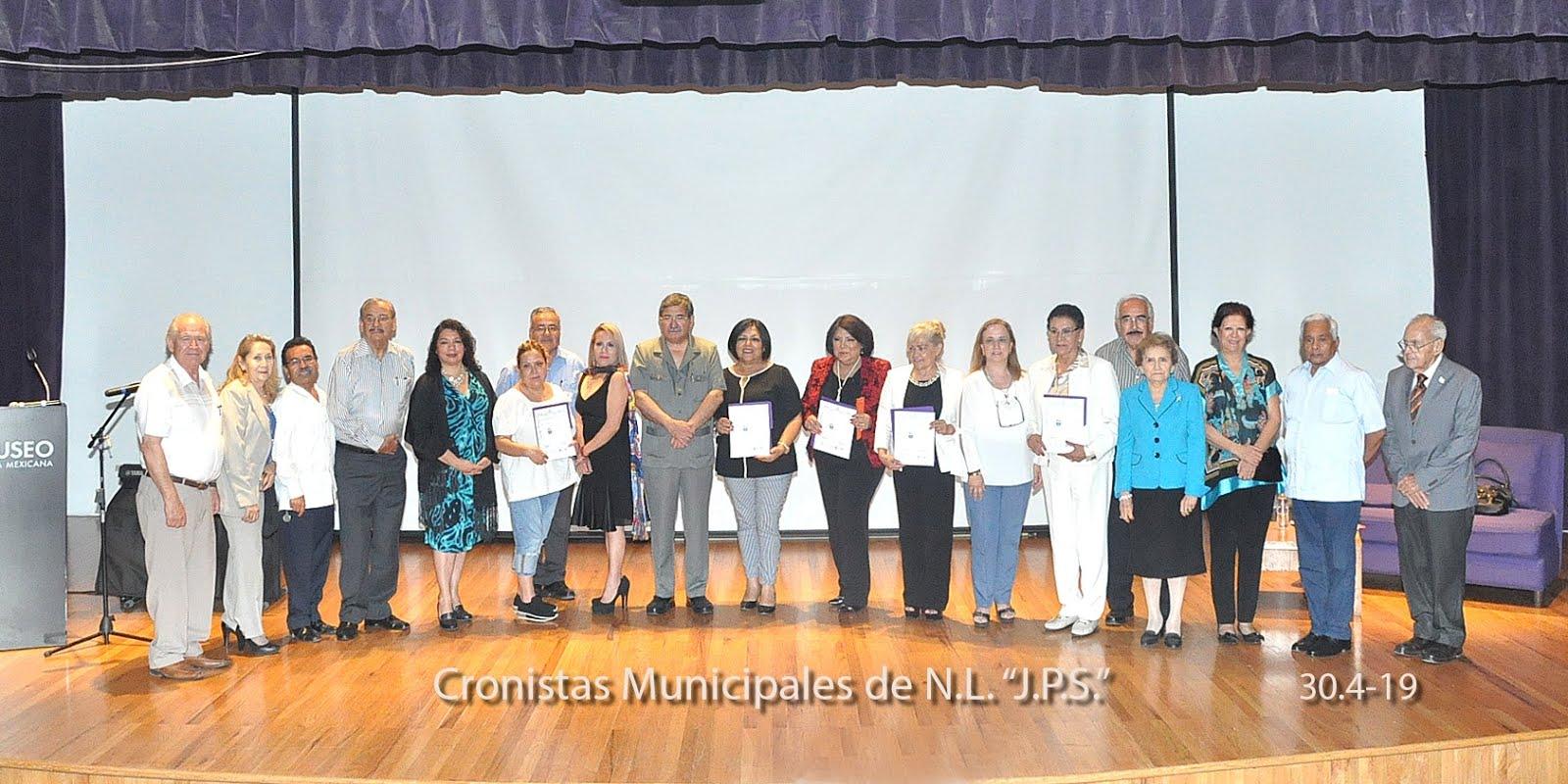 Con los Cronistas Municipales de Nuevo León, México.