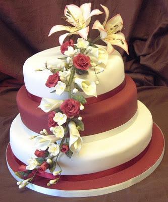 Lily Rose Cake Design : Wedding Cake Designs: Wedding Cake with Roses Decoration
